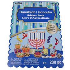 hanukkah stickers buy the hanukkah sticker book by ashland at