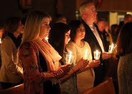 vigil lights catholic church infographic easter data basket america magazine