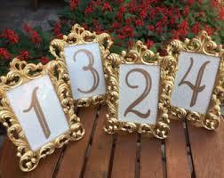 gold table number frames table number frames 4 x 6 gold wedding frames ornate baroque