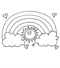 rainbow coloring page kids dream of rainbows with pots of gold
