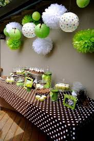 green baby shower decorations shades of green and brown garland baby shower backdrop jungle