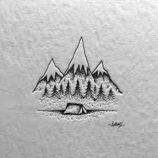 best 25 camping tattoo ideas on pinterest small drawings