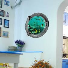 us removable ocean sea fish 3d mural wall sticker kids room us removable ocean sea fish 3d mural wall sticker kids room bathroom diy decor 5 99