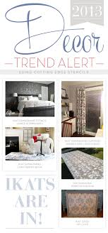home decor patterns home decor trend ikat patterns are in stencil stories stencil