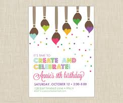 14th birthday party invitations 10 excellent art birthday party invitations theruntime com