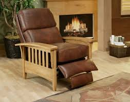mission chair recliner leather chair design ideas