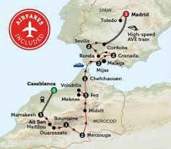Toledo Spain Map by Southern Spain U0026 Morocco Bunnik Tours