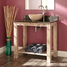 Cottage Style Vanity Bathroom Rustic Bathroom Cabinet Design With Weathered Wood