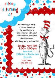 3 excellent funny cartoon dr seuss birthday invitations