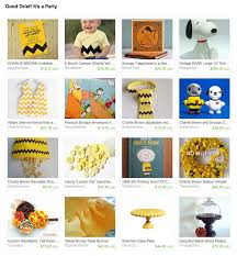 etsy treasury good grief it u0027s a party charlie brown