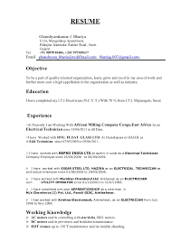 Sample Resume For Electrician Job by Electrician Apprentice Resumes Corpedo Com
