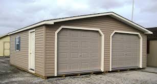24x24 vinyl two car modular garage in hanover pa pine creek