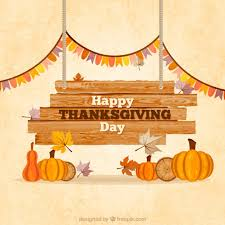 wooden thanksgiving sign vector free