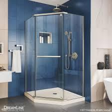Neo Shower Door Prism Neo Angle Shower Enclosure Biscuit Base Kit Dreamline