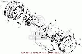 honda xl125 1977 usa points advancer schematic partsfiche