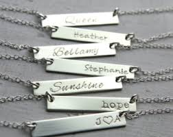 personalized sterling silver jewelry personalized sted jewelry by unmistakablymine on etsy