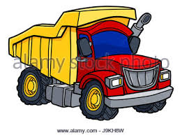 vector dump truck tipper lorry on transparent background all