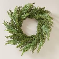 faux cedar wreath reviews birch