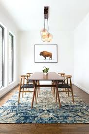 Round Table Rectangular Rug Rug Placement Dining Room Round Persian Under Table Jute Area In