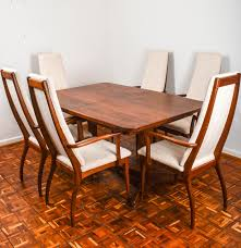 Modern Dining Furniture Danish Modern Dining Table And Six Chairs By Otmar Ebth