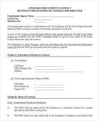 job contract template employment contract sample employment