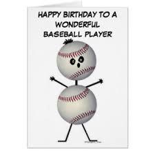 baseball birthday cards invitations greeting photo cards zazzle