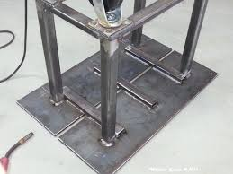 Welding Table Plans by First Welding Project Welding Work Table