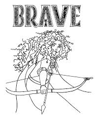 Princess Merida In Brave The Movie Coloring Pages Color Luna Disney Brave Coloring Pages