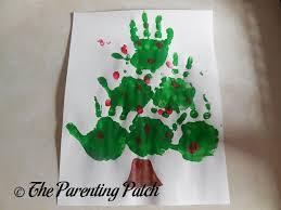 christmas tree handprint fingerprint craft parenting patch