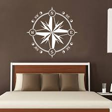 wall decor home decor home living compass wall decal nautical decor compass rose wall decor navigate vinyl stickers decals
