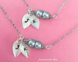 Two Peas In A Pod Charm Two Peas In A Pod Necklace Tiny Sterling Silver Pea Pod Charm
