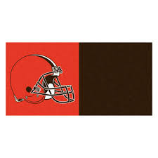 Cleveland Browns Flag Fanmats Nfl Cleveland Browns Brown And Orange Nylon 18 In X 18