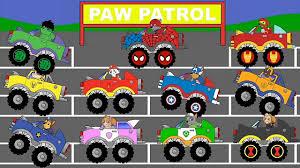 paw patrol super hero monster trucks zuma iron man chase captain