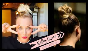 penny bun hairstyle big bang kaley cuoco inspired bun hairstyle xaritenatv youtube