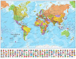 Chile World Map by World Map 1 60 Mio Mi With Flags Political World Maps World Maps
