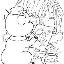 big bad wolf blowing coloring pages hellokids