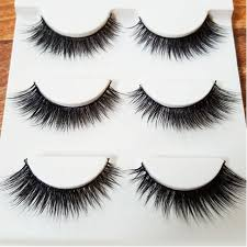 3d extensions 3d mink eyelashes strips thick cross 3 pairs of false