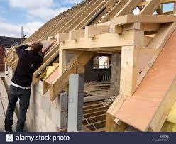 Grp Dormer Self Building House Constructing Roof Stock Photos U0026 Self Building