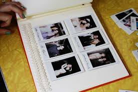 wedding guest book photo album our handmade wedding guestbook a beautiful mess