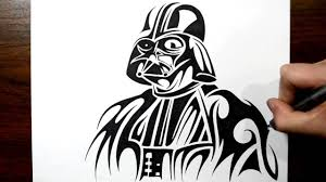 tatoo design tribal how to draw darth vader tribal tattoo design style youtube