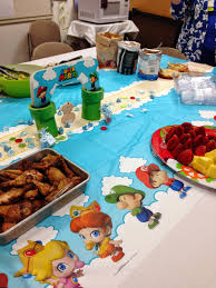Super Mario Decorations On Call Rn Baby Shower Pictures We Are Decorating Bentleys Room In