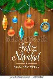 Board Decoration On Happy New Year by Spanish Calligraphy Decorated Merry Christmas Tree Branch Happy