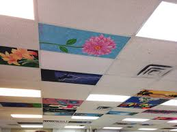 painted ceiling tiles