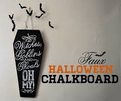 diy u201cwitches goblins and ghouls oh my u201d chalkboard the