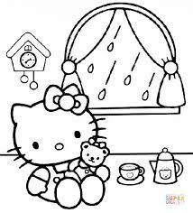 kitty house cartoon coloring cartoon