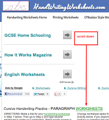 curvelearn com how to print off free handwriting practice worksheets