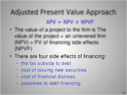 there are four side effects of financing u2013 the tax subsidy to debt