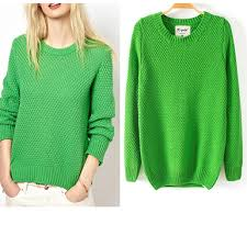 green sweaters green sweater rounded neckline three dimensional
