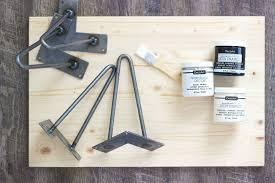 diy wooden hairpin leg tray