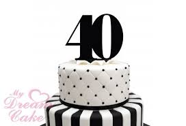 40 cake topper acrylic cake topper 40 number